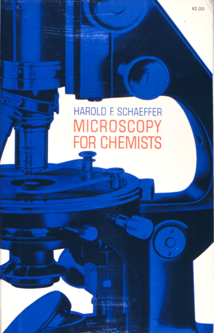 Figure 53. Front cover of the Dover reprint of Schaeffer's Microscopy for Chemistry (1953).