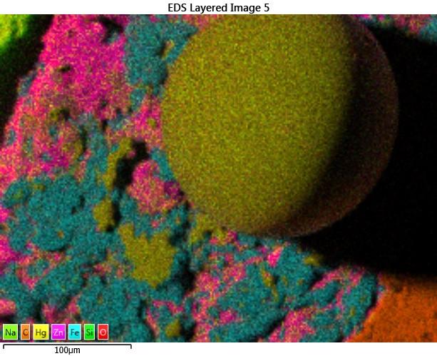 Map captured SEM image