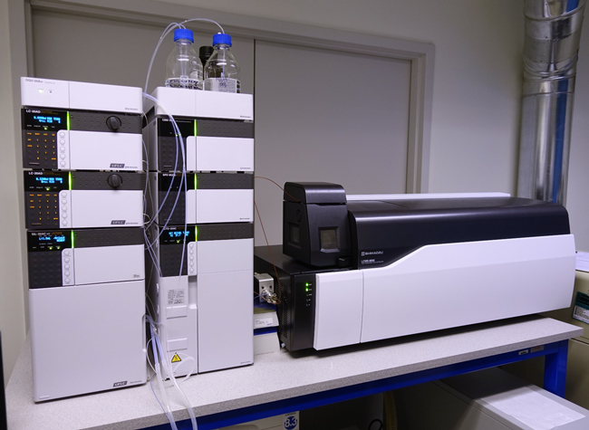 The HPLC-MS-MS.