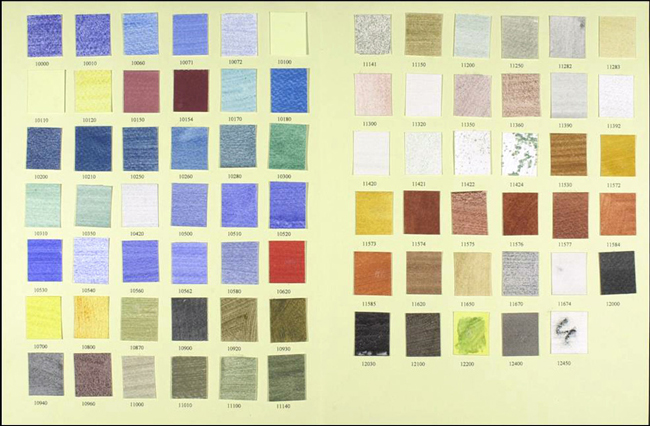 Kremer Color Chart 001