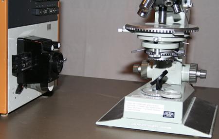 Zeiss Amplival pol u polarized light microscope with Spekol 11 light source