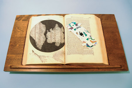 Micrographia by Robert Hooke and the Foldscope.