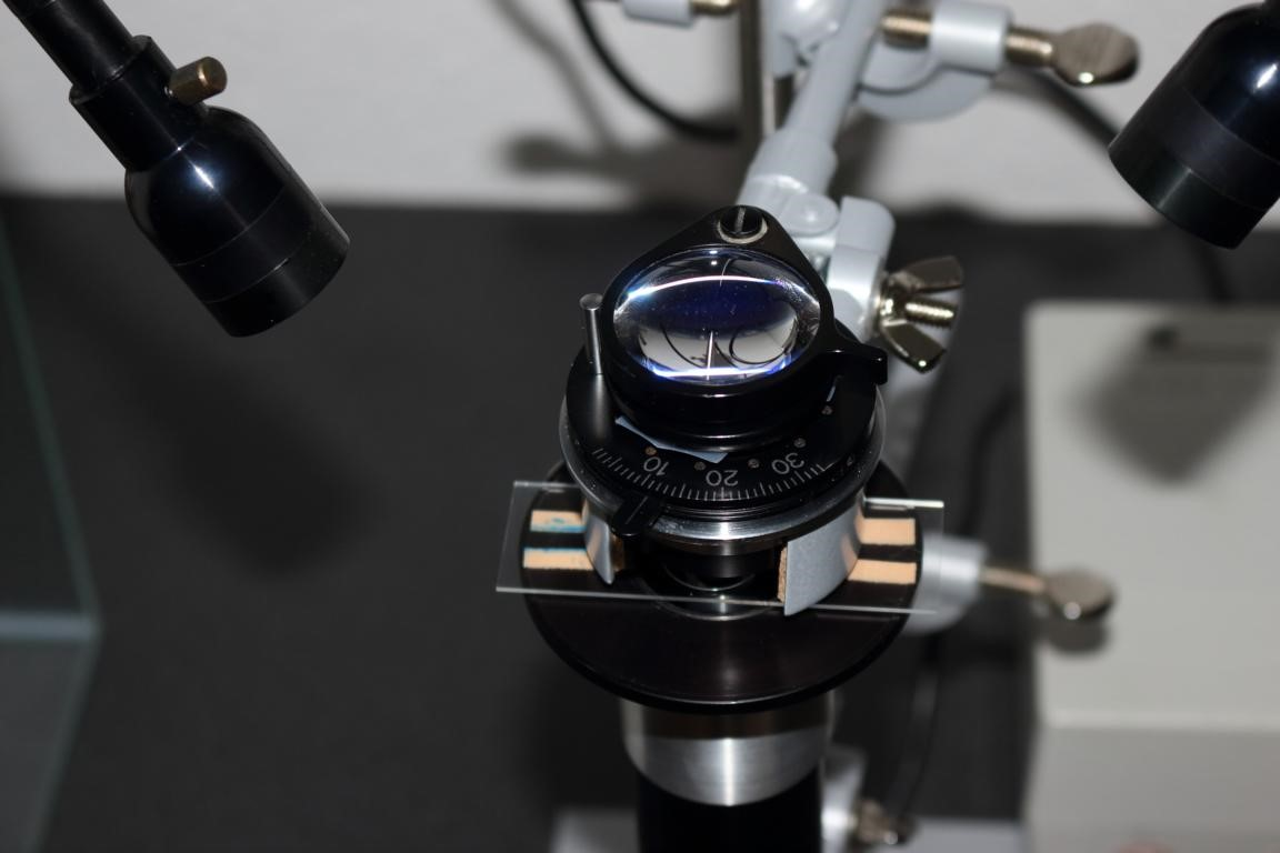 Figure 3: Condenser region of the home-made inverted microscope