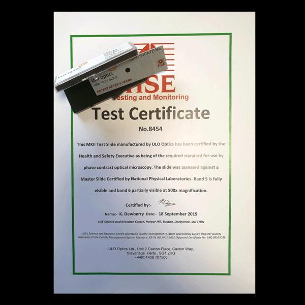 MKII test slide