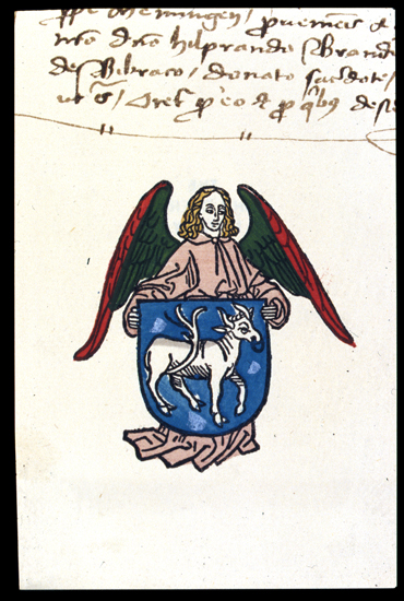 Bookplate of Brother Hildebrand Brandenburg