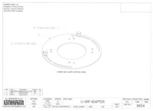 Linkam adapter for universal stage diagram
