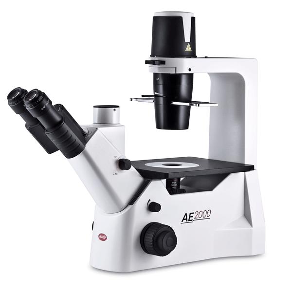 Motic AE trinocular microscope