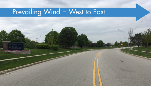 prevailing wind Westmont IL