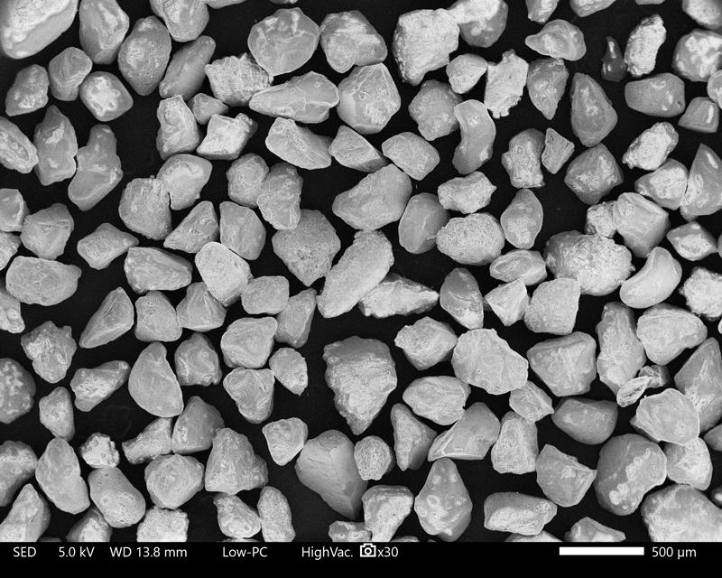Sand, Marinette, WI, (Lake Michigan), scanning electron micrograph, 30X