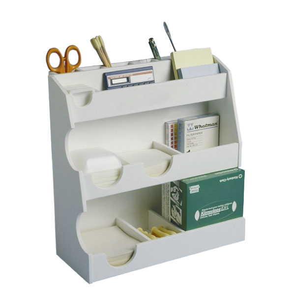 small laboratory desktop organizer