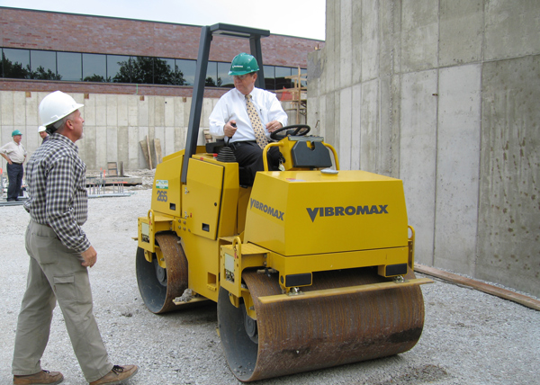 Don Brooks at college build site