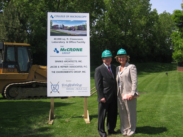 Don and Jane Brooks at college groundbreaking