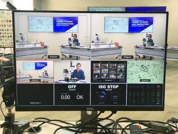 multi-camera monitor view