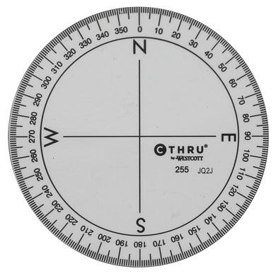 "½"" diameter 360º plastic protractor"