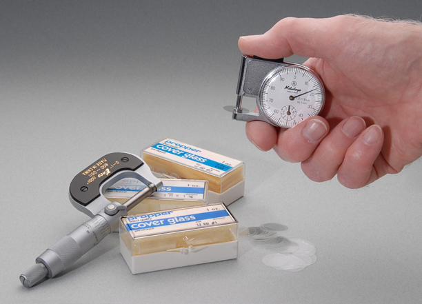 measure coverglass thickness