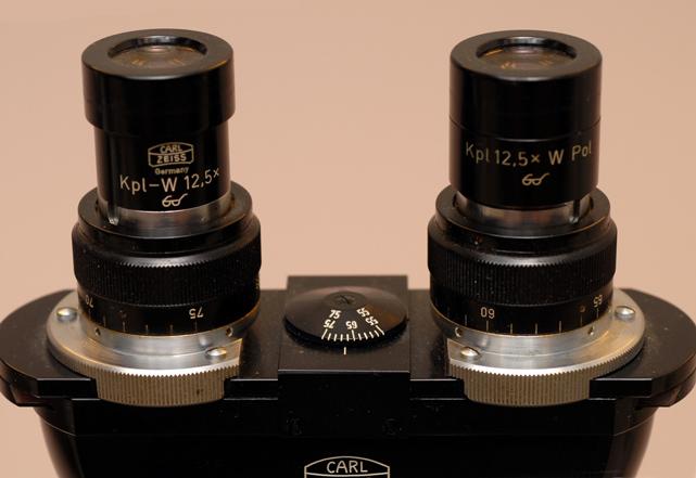 unique binocular microscope head made by Zeiss