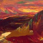 Rose Mountains at Sunset photomicrograph by Carol Roullard