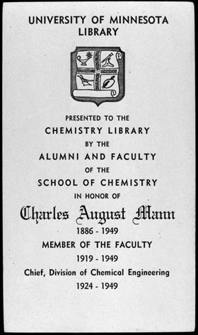 Charles August Mann bookplate