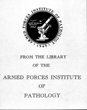 Armed Forces Institute of Pathology book plate