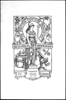 Bookplate of The British Cotton Industry ResearchAssociation