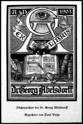 Bookplateof Dr. Georg Abelsdorff