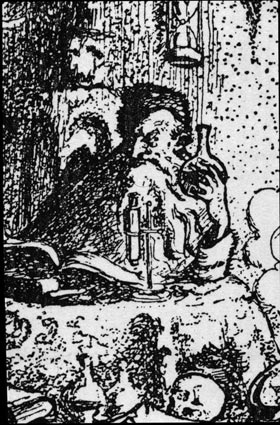 Bookplate of Arthur L.E. Barron, close up