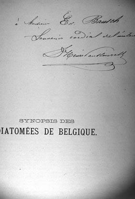 Henri van Heurck's signature