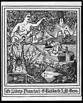 Bookplate of Francis E. Beddard