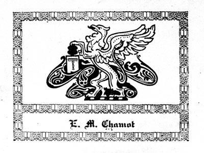 Bookplate of Émile Monnin Chamot