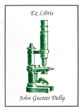 Bookplate of John Gustav Delly