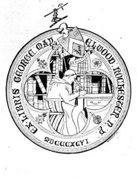 Bookplate of George May Elwood