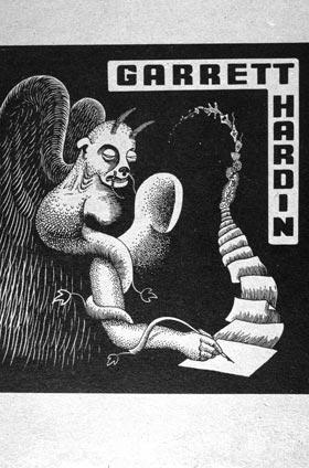 Bookplate of Garrett Hardin