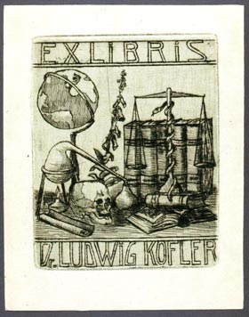 Bookplate of Ludwig Kofler