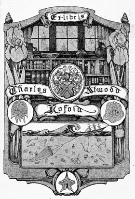 The bookplate of Charles Atwood Kofoi