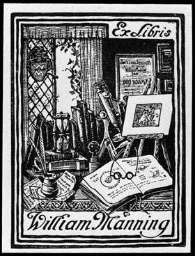 The bookplate of William Manning