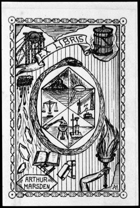 Arthur Marsden's bookplate