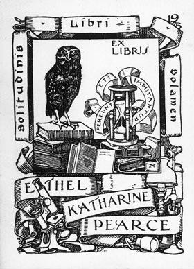 The Ethel Katharine Pearce bookplate