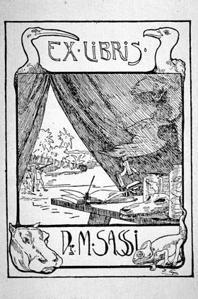 The bookplate of Dr. M. Sassi