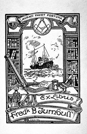 The bookplate of Frederick B. Turnbull
