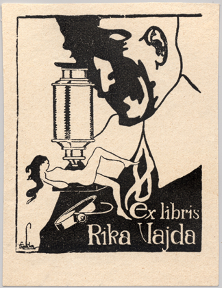 The bookplate of Rika Vajda