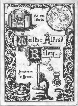 The bookplate of Walter Alfred Riley