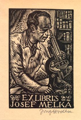 The bookplate of Josef Melka