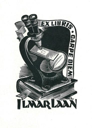 The bookplate of Ilmar Laan