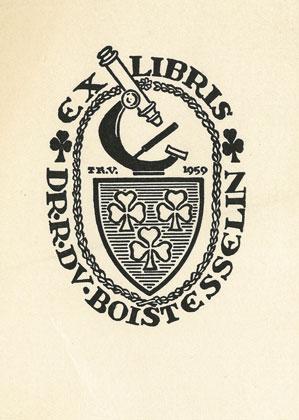 Bookplate of Doctor Roger du Boistesselin