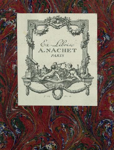 Bookplate of A. Nachet