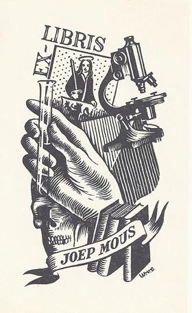 Joep Mous' woodcut bookplate